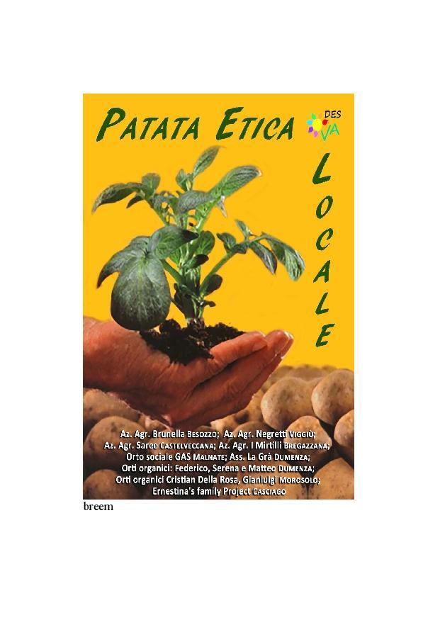 Patata Etica locandina Patata Etica Locale