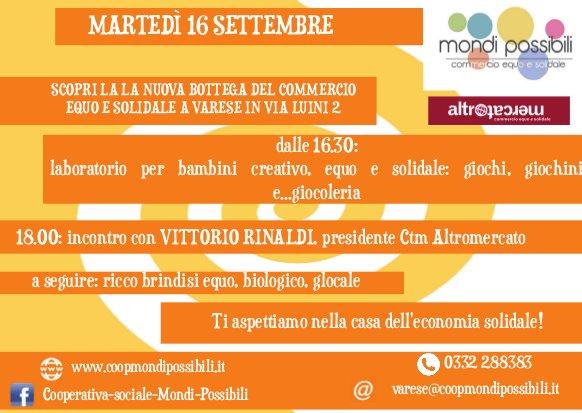 Inaugurazione nuova bottega Varese - 16 settembre