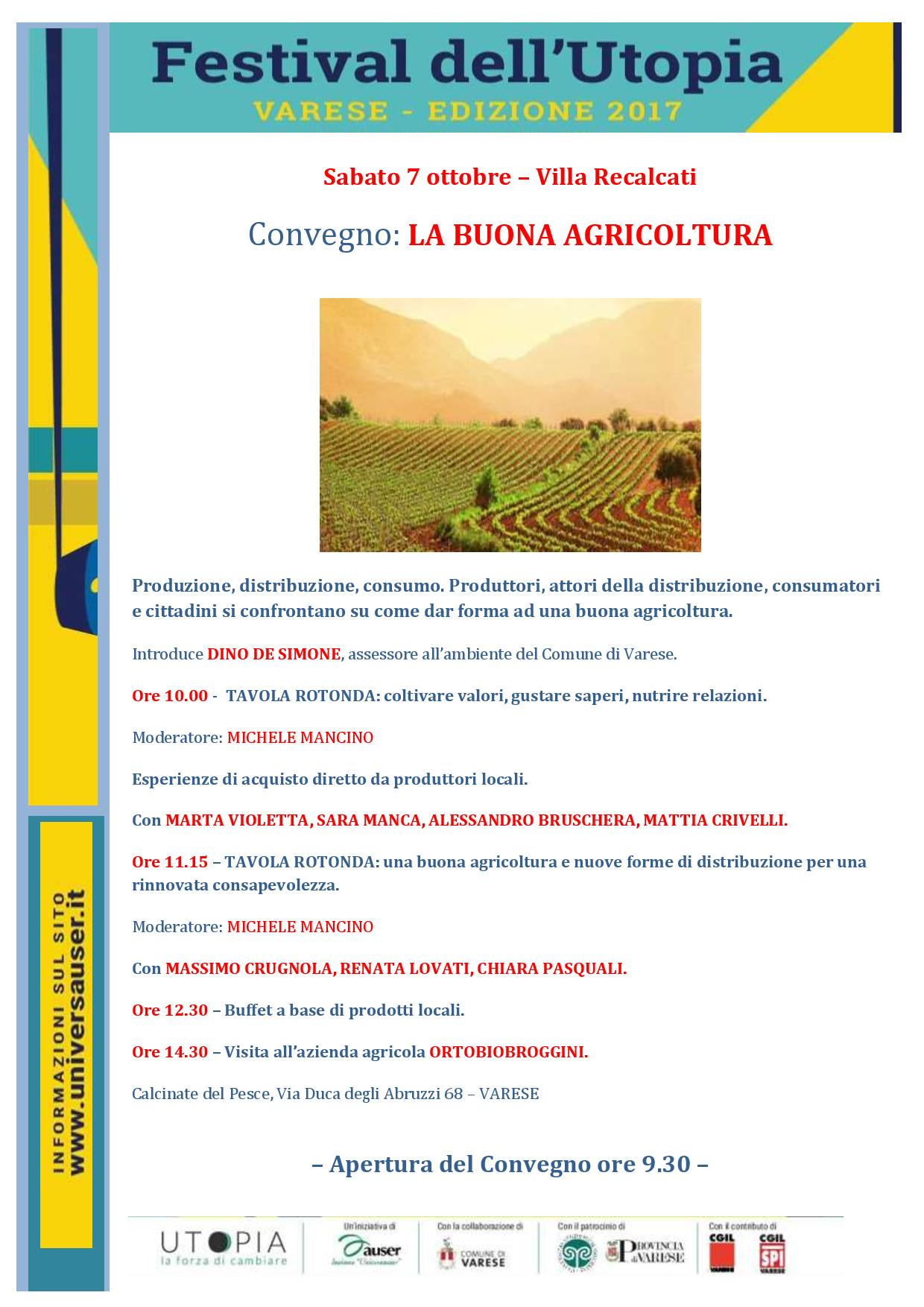 La buona agricoltura - 7 ottobre a Villa Recalcati a ...