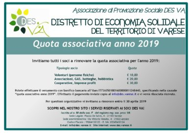 Rinnovo quota associativa anno 2019